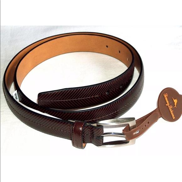 Tommy Bahama Men/'s Leather Tan Dress Belt $68 Sizes 34,36,38,40,42,44
